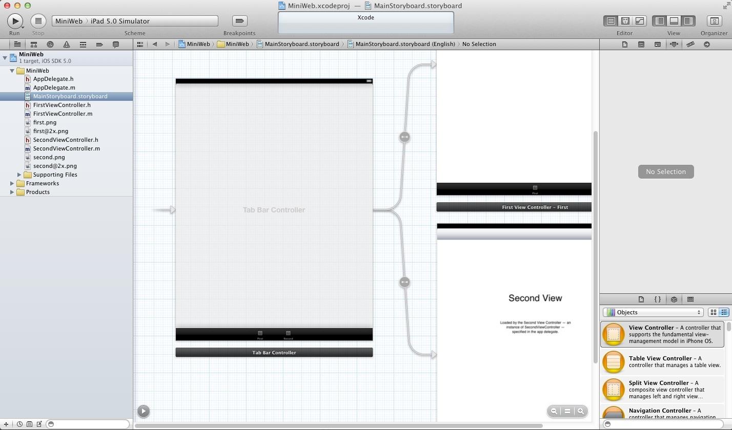 iOS XCode Storyboard