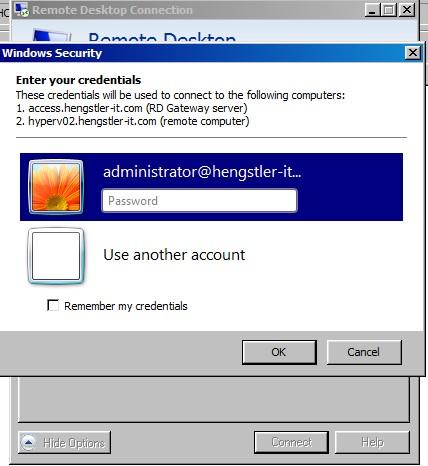 Multi-Faktor-Authentisierung mit Mobile App für Remote Desktop