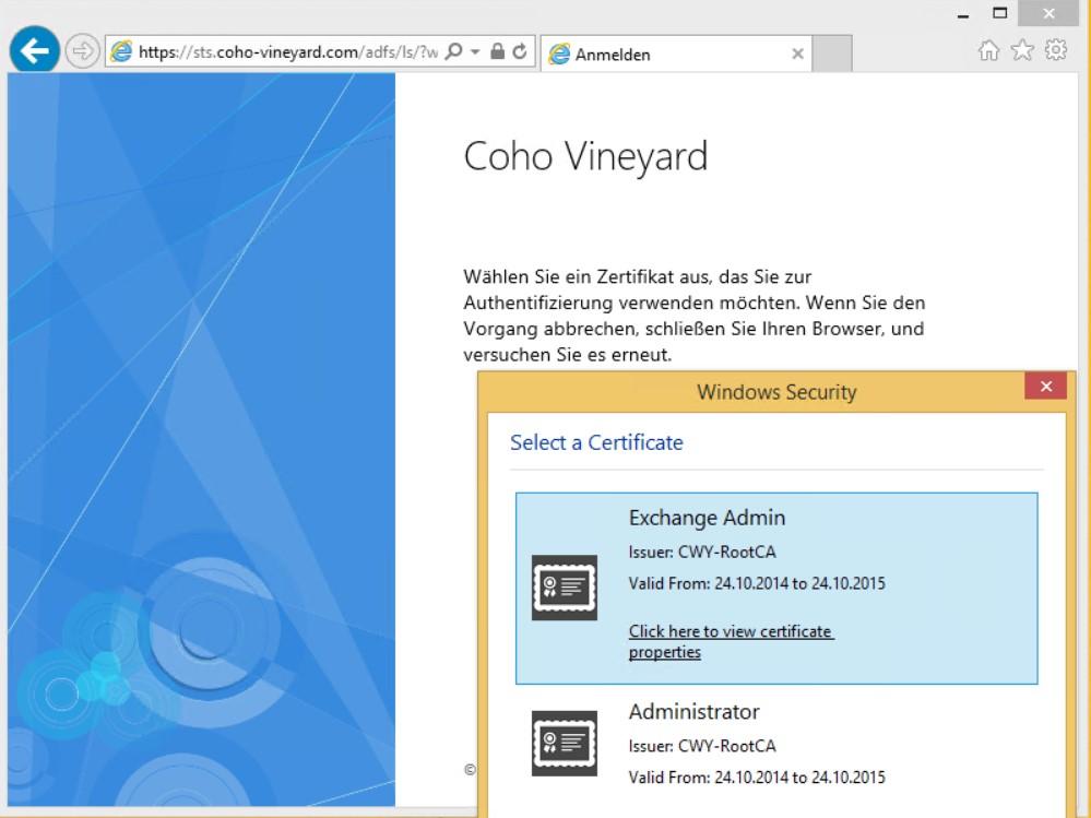 Microsoft Exchange 2013 Owa Mit Zertifikat Basierter