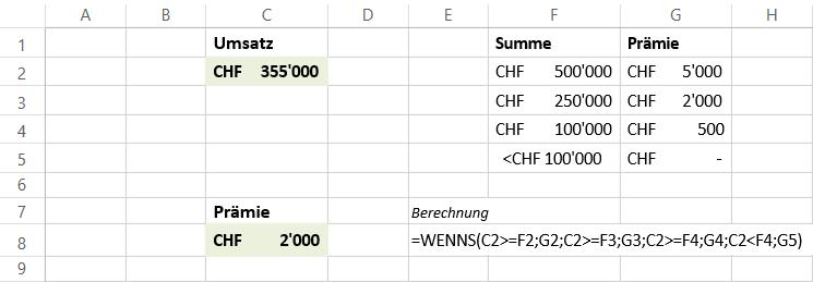Die neue WENNS-Funktion in Microsoft Excel
