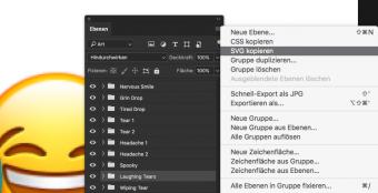 Auch Photoshop kann inzwischen direkt Vektorgrafiken als SVG kopieren oder exportieren
