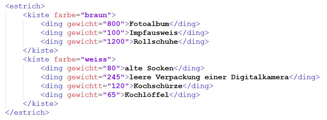 Datentyp-xml
