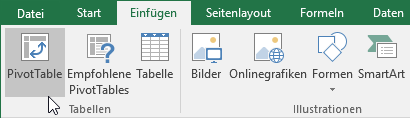 Pivot Tables in Excel 2016