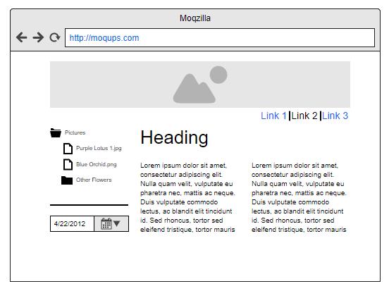 moqups - Websites skizzieren
