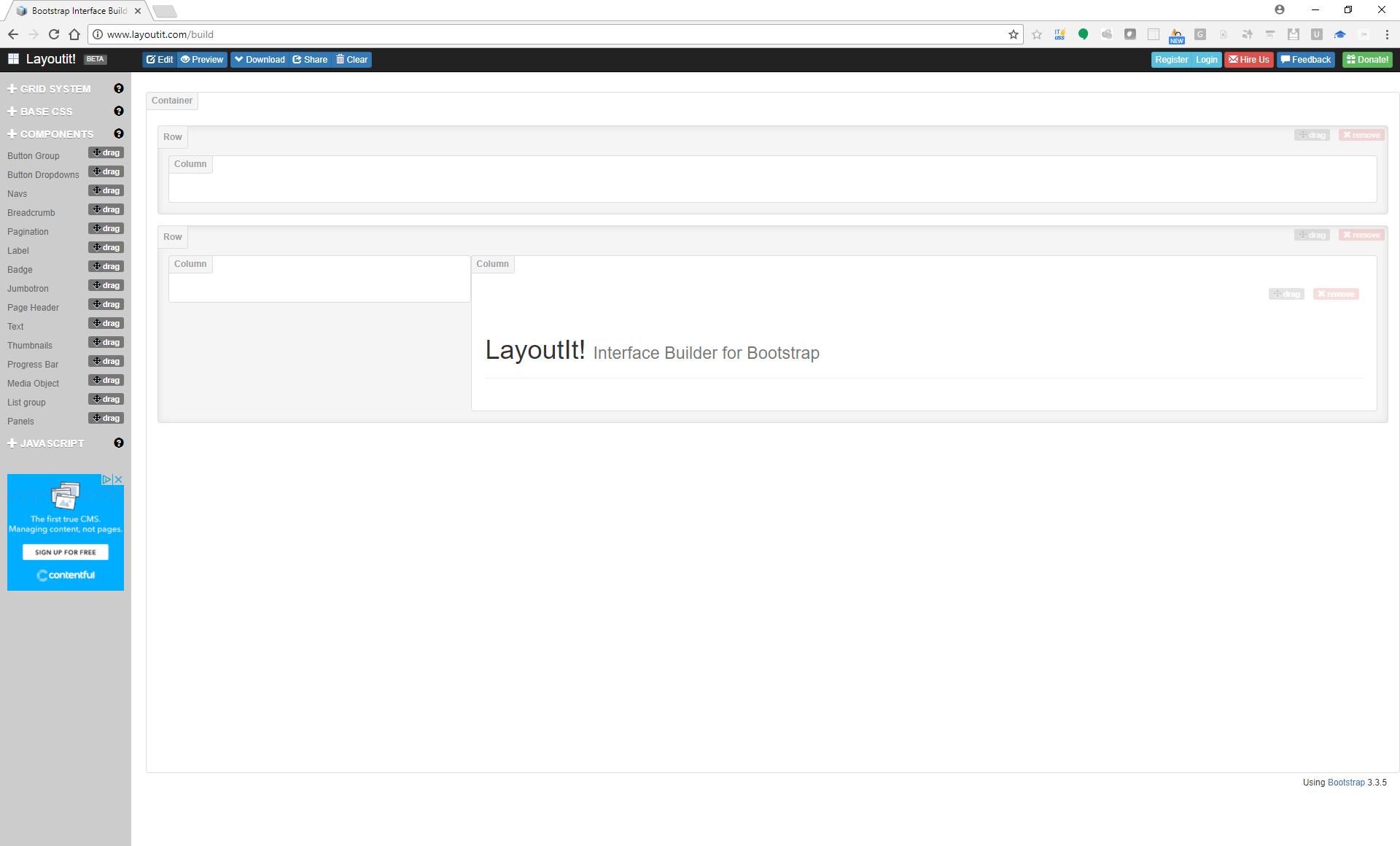 layoutit - Websites skizzieren